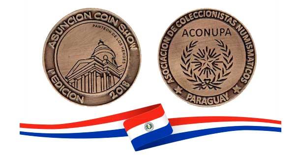 Medalla Asunción Coin Show ¡No te quedes sin la tuya!