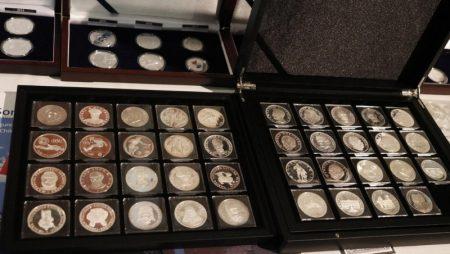 Exposición numismática tiene piezas valuadas en US$ 1.500