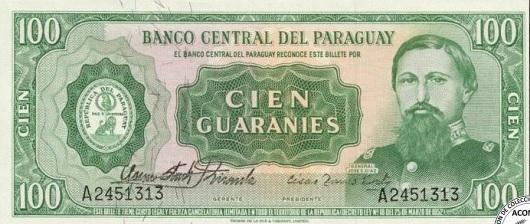 Billetes de 100 Guaraníes