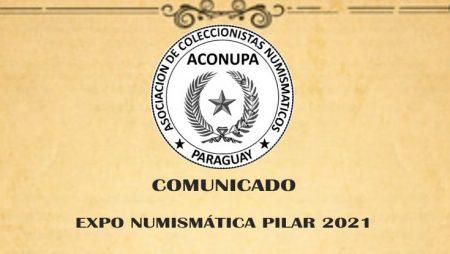 Expo Numismática Pilar 2021 ¡Nueva fecha!